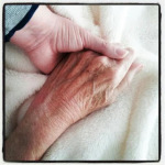 grandma b's hand with mine